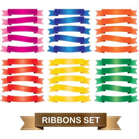 ribbin: ribbons set Illustration