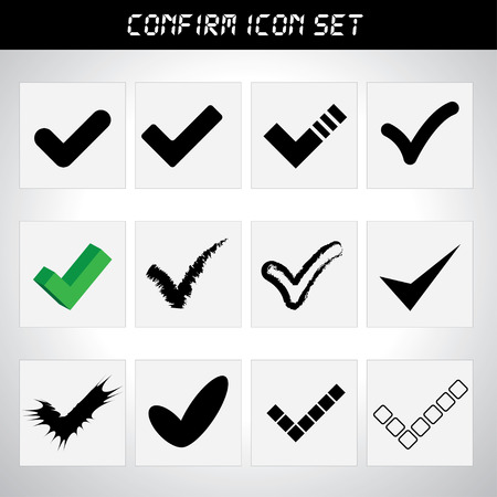 approbate: Approved icon set
