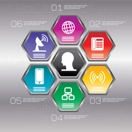 mobile marketing: Infographic design template can be used for workflow layout, diagram, number options, web design.