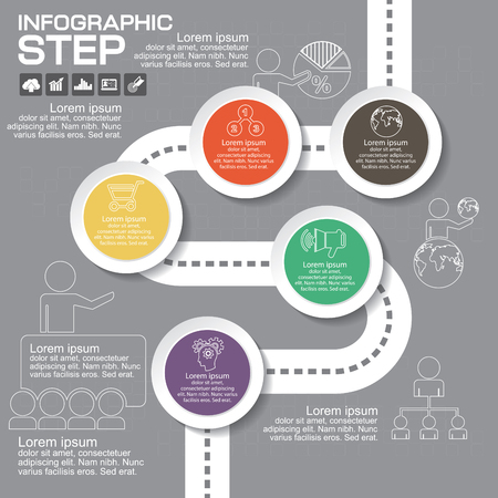 mobile marketing: Infographics business stair 10 step success vector design template. Illustration