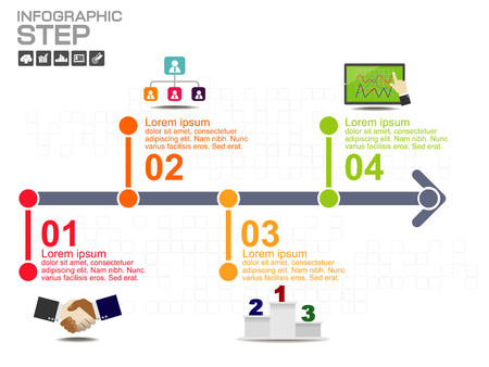 Step and timeline Infographic Templates for Business Vector Illustration, With 5 options, process diagram, vector eps10 illustration