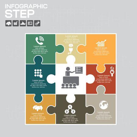 Abstract 3D digital illustration Infographic. Vector illustration can be used for workflow layout, diagram, number options, web design. Ilustração