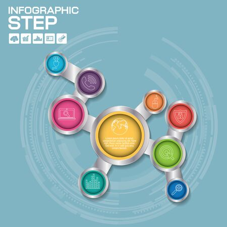 Social Networking Creative Icon Background Concept