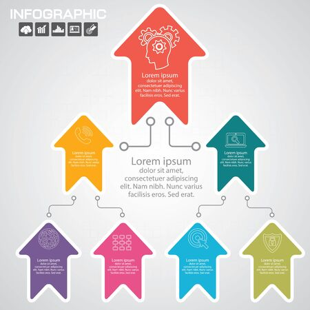 Infographics business stair 10 step success vector design template. Çizim