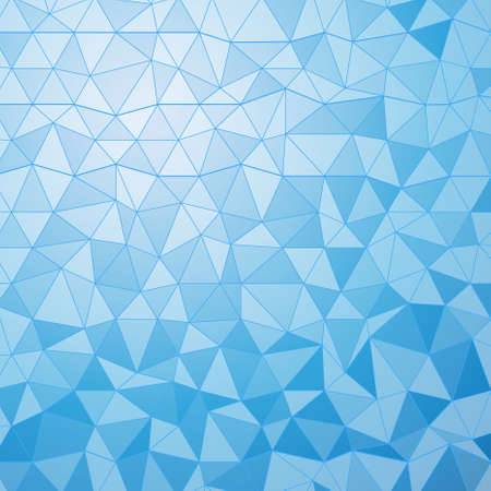 Vector geometrical background with triangles. Blue low poly background for card, poster or wallpaper. Multicolor mosaic illustration Çizim