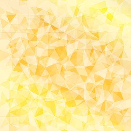 Vector geometrical background with triangles. Yellow low poly background for card, poster or wallpaper. Multicolor mosaic illustration