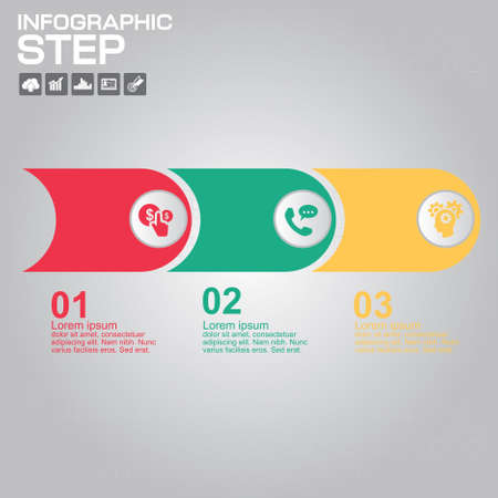 Infographics with arrows, elements and icons. Vector illustration