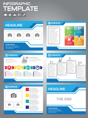 Business abstract template slides background design.info graphs and charts