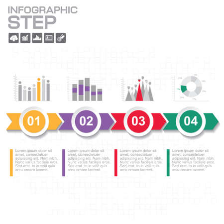 Timeline infographics design template with 5 options, process diagram, vector eps10 illustration Ilustrace