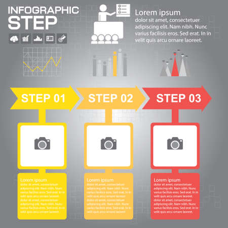 Infographic 3 Arrow timeline Templates for Business Ilustrace