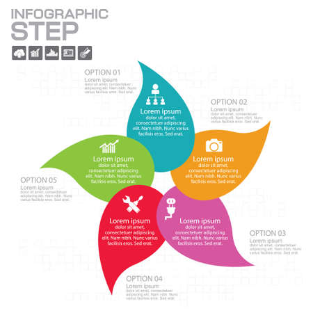 Infographic Arrow timeline Templates for Business Ilustrace