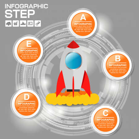 Circle With World Globe,Number and Information Text Design. 12 Options, Financial and Business Infographic with icons.