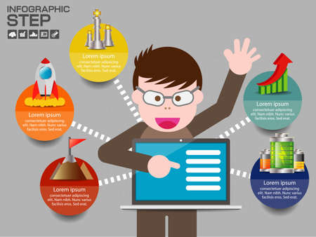 Infographic Templates for Business Vector Illustration. Ilustrace