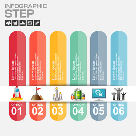 Infographic design vector and marketing icons can be used for workflow layout, diagram, annual report, web design. Business concept with 6 options, steps or processes.