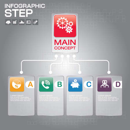 Manage chart  infographic design templates . With paper tags. Idea to display information, ranking and statistics with orginal and modern style. Ilustrace