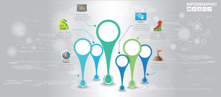 Infographic design vector and  icons can be used for workflow layout, diagram, report, web design. Business concept with options, steps or processes. Ilustrace