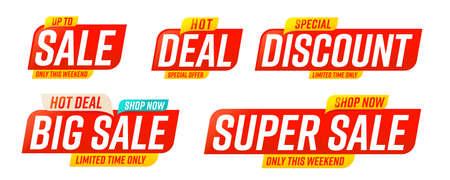 Big or super sale, deal, discount special offer template Vektorgrafik