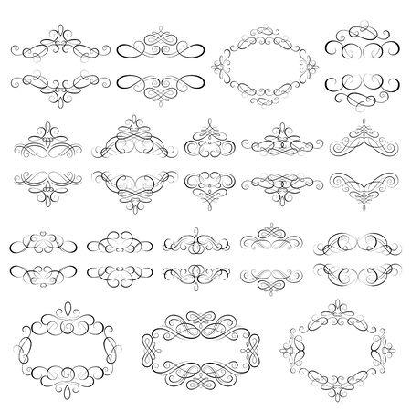 Vector set - kalligrafische ontwerpelementen