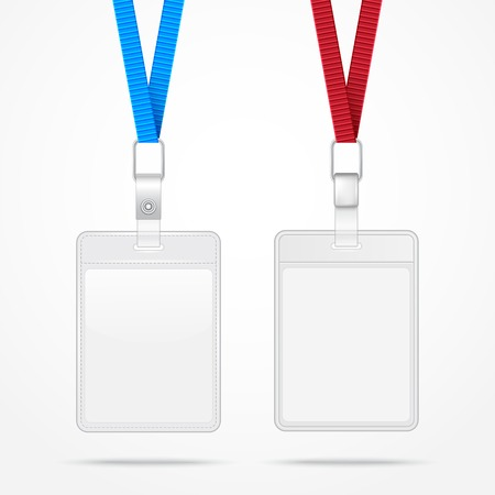 strap: Lanyard with Tag Badge Holder. Vector Illustration. EPS10 Illustration