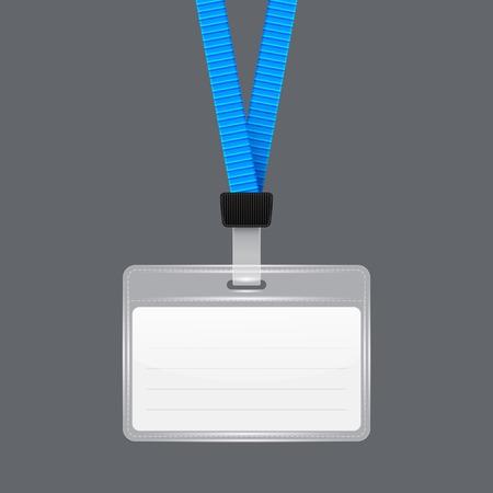 lanyard: Lanyard with Tag Badge Holder. Vector Illustration. EPS10 Vectores