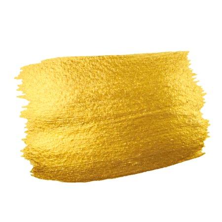 Gouden Textuur. Penseelstreek vector design element.