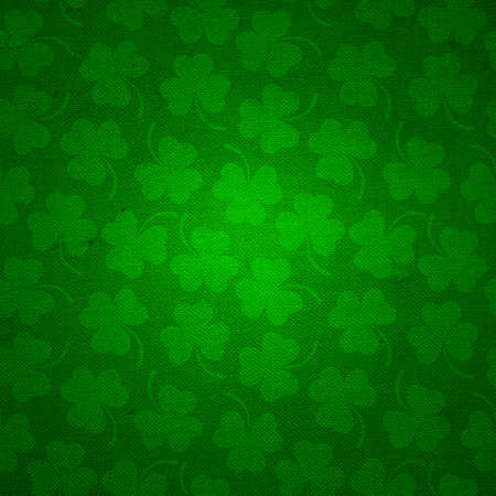 irish culture: Clover background for St. Patricks Day. Abstract green background