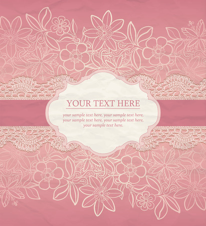 lace pattern: Floral Background. Vector greeting card, invitation templat