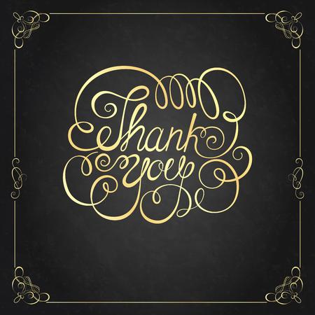 merci: MERCI lettrage à la main. calligraphie main, vecteur