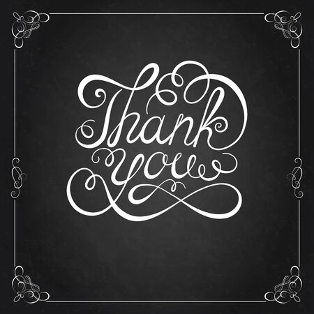 thanks: THANK YOU Hand lettering. Handmade calligraphy, Vector