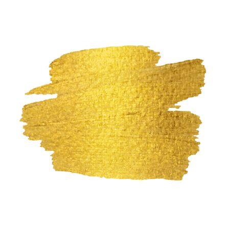Gold Texture. Gold Brush stroke vector design element.  イラスト・ベクター素材
