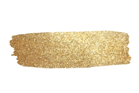 Gold Texture. Hand drawn brush stroke vector design element.