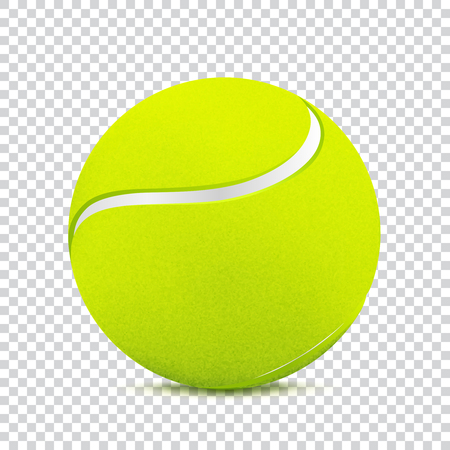 Tennis ball on transparent background