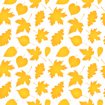 Seamless leaf pattern. Autumn background