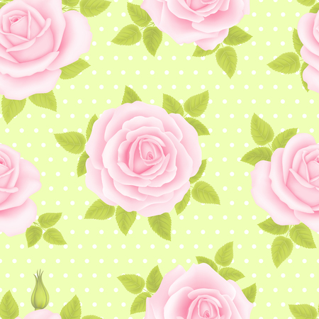 Seamless pattern with rose flowers for background design Stok Fotoğraf - 111654202