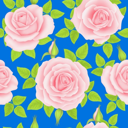 Seamless pattern with rose flowers for background design