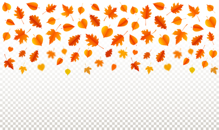 Autumn background with leaves. Poster, card, label, banner design. Vector illustration Ilustracja