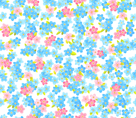 Seamless flower colour pattern. Floral vector background Ilustracja