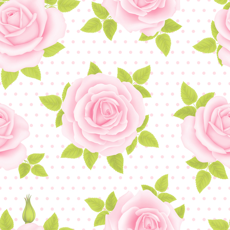 Seamless pattern with roses Stok Fotoğraf