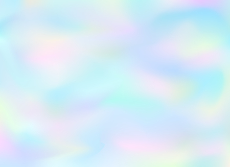Holographic vector background. Pastel neon rainbow. Cover to web design. Abstract colorful gradient.