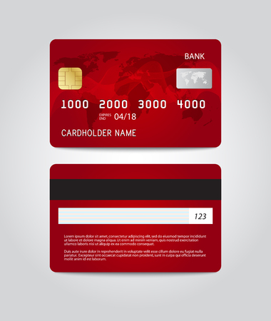 Credit card template design. Two sides.