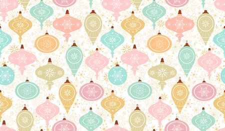 Seamless pattern. Christmas background, packaging paper, cover, fabric.