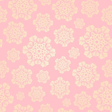 Seamless winter pattern with snowflakes.