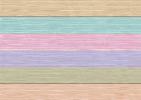 Background of multicolor wooden boards. vector