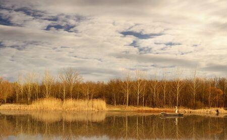 Beautiful landscape in Debrecen, Hungary  Fancsika lake photo