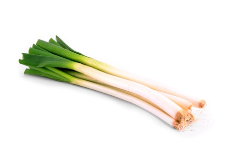 scallions: Spring onion (scallions) isolated on a white background