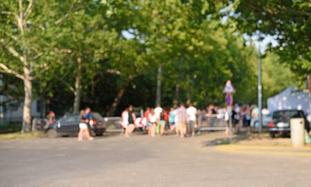 Blurred photo of a entrance event in the park