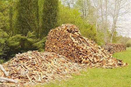 heap: Heap of firewood, detail