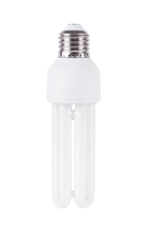 florescent light: Energy efficient light bulb isolated on white background
