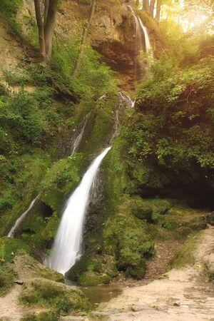 outumn: Waterfall in Lillafured, Hungary Stock Photo