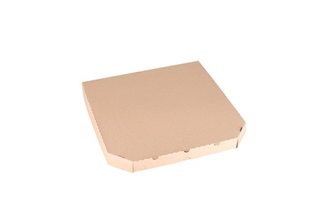 pizza box: Pizza box isolated on a white background Stock Photo